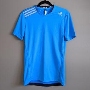 Adidas | men's climachill blue t-shirt
